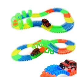Pista Luminosa Flexible Magic Ligtht Trax 55piezas 1 Carro
