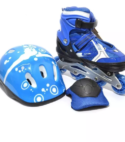 Patines Ajustables Jun Ran Azul + Kit Protección