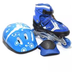Patines Ajustables Jun Ran Azul + Kit Protección