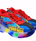 Tenis Patin 2 Ruedas Con Luces Spider Man