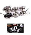 Set Cocina Ollas 12pza Acero Inoxidable Zepter International